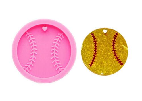 Baseball keychain Silicone Mold,keychain Silicone Mold,Shiny Silicone Softball//B