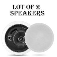 Lot Of (2) Pyle Pdpc8t In-ceiling Enclosed Speaker System W/70v Transformer on sale