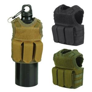 Outdoor Tactical Mini Weste Bier Wasserflasche Molle Beutelhalter Träger Vest