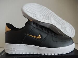 5634a67ab86fa NIKE AIR FORCE 1 07 LV8 LEATHER LTHR BLACK-MET GOLD-WHITE SZ 13 ...