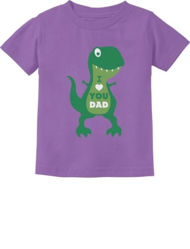 Father/'s Day Gift I Love You Dad T-Rex Toddler Kids T-Shirt Cute Gift