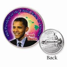 2008 Hawaii Quarter Of Barack Obama Sterling Silver Pin