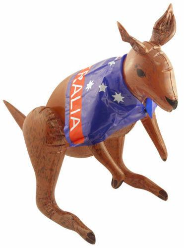 AUSSIE FLAG KANGAROO INFLATABLE 70 cm Australian Fancy Dress Kids Party Blow Up