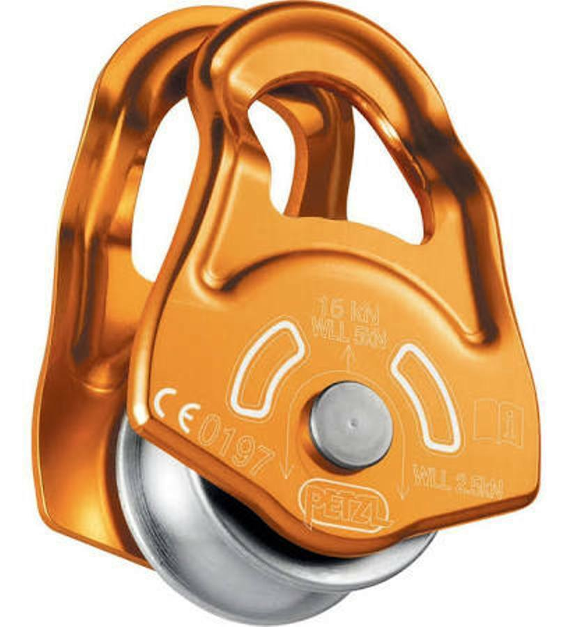 Petzl MOBILE Swing Cheek Rope Pulley P03A (gold) Anchorage Hauling Compact