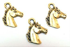 Set-of-Three-3-Gold-Tone-Pewter-Horse-Head-Charms-5357