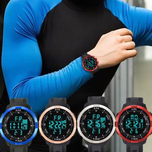 Herren-High-End-Multi-Funktion-50M-wasserdichte-Sport-elektronische-Armbanduhr