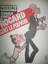 CHARLIE HEBDO N° 426 ROCARD SENT LE POUVOIR DESSINS SATIRIQUES COUV CABU 1979