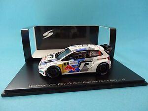 VOLKSWAGEN-POLO-WRC-8-VW-S-OGIER-1-RALLY-FRANCE-2013-1-43-NEW-SPARK-S3314