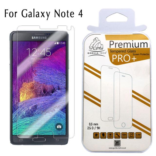 100% Genuine Gorilla Tempered Glass Film Screen Protector Samsung Galaxy Note 4