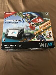 Details About Nintendo Wii U 32 Gb Mario Kart 8 Deluxe Set Brand New Never Taken Out The Box