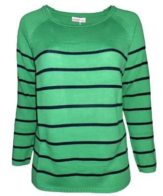 2019 rabatt verkauf niedriger Preis große Auswahl an Farben und Designs SHEEGO Damen Pullover grün Streifen GR. 48 50 52 54 56 58 NEU - P12 | eBay