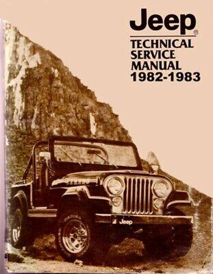 1982 1983 Jeep Cj Wrangler Shop Service Repair Manual Engine Drivetrain Wiring Ebay