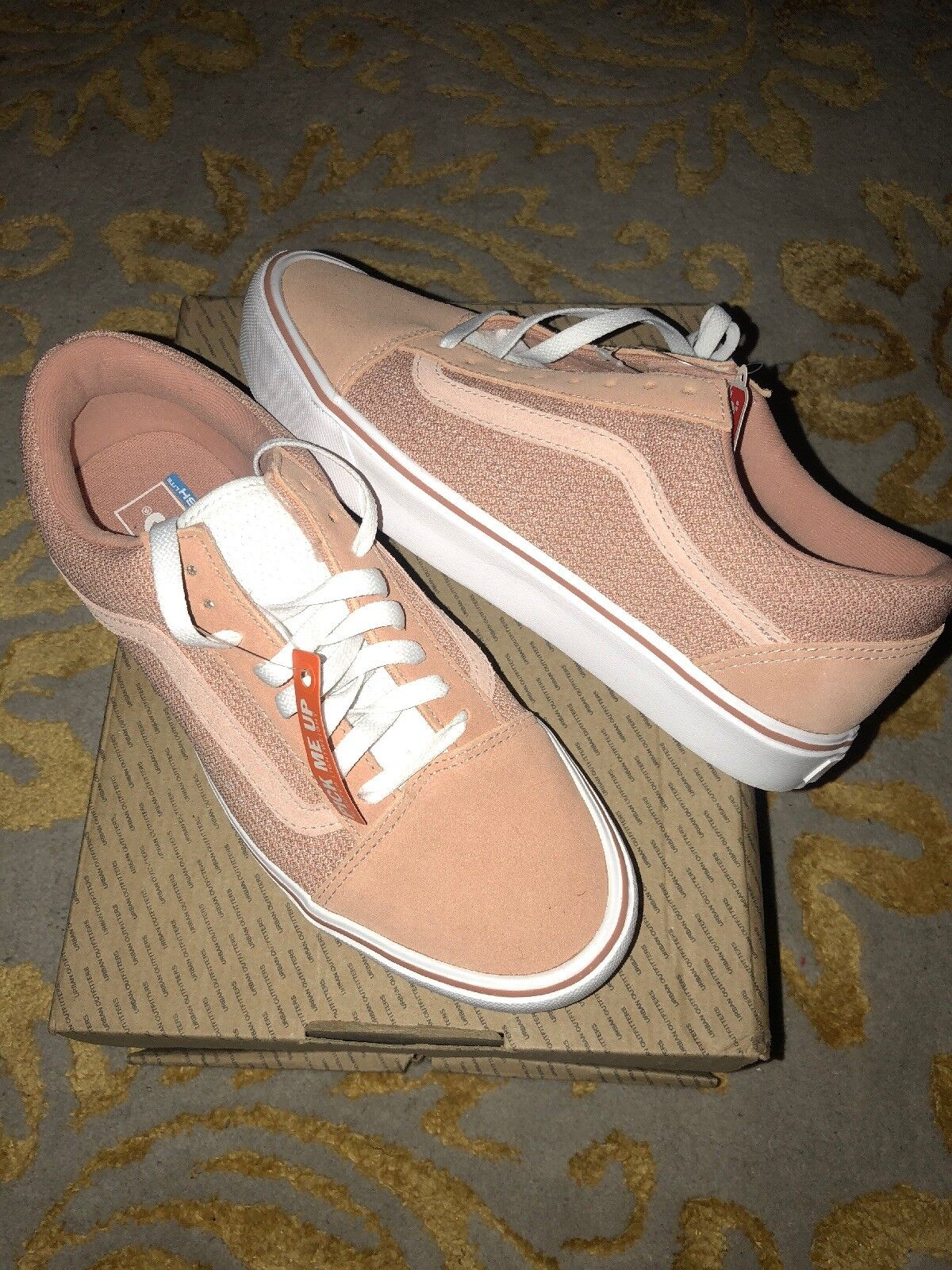 DS NEW Vans Old Skool Lite Light Pink Sz M 9.5 Free Ship