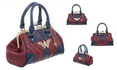DC Film Licensed DELUXE WONDER WOMAN Uniform Kisslock PURSE w/Crossbody Strap