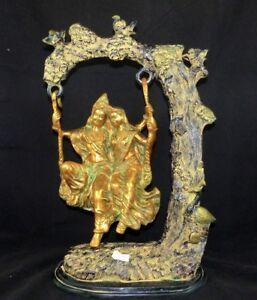 Auf Einer Schaukel Messingguss Aus Indien Schnelle WäRmeableitung Stetig Radna Und Krishna