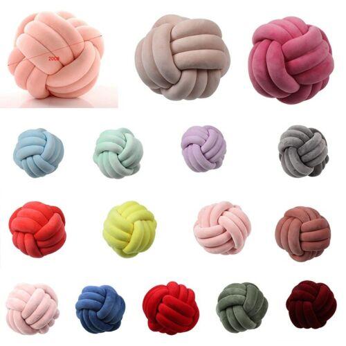 Soft Knot Pillow Ball Cushions Bed Stuffed Pillow Home Decor Cushion Ball Plush