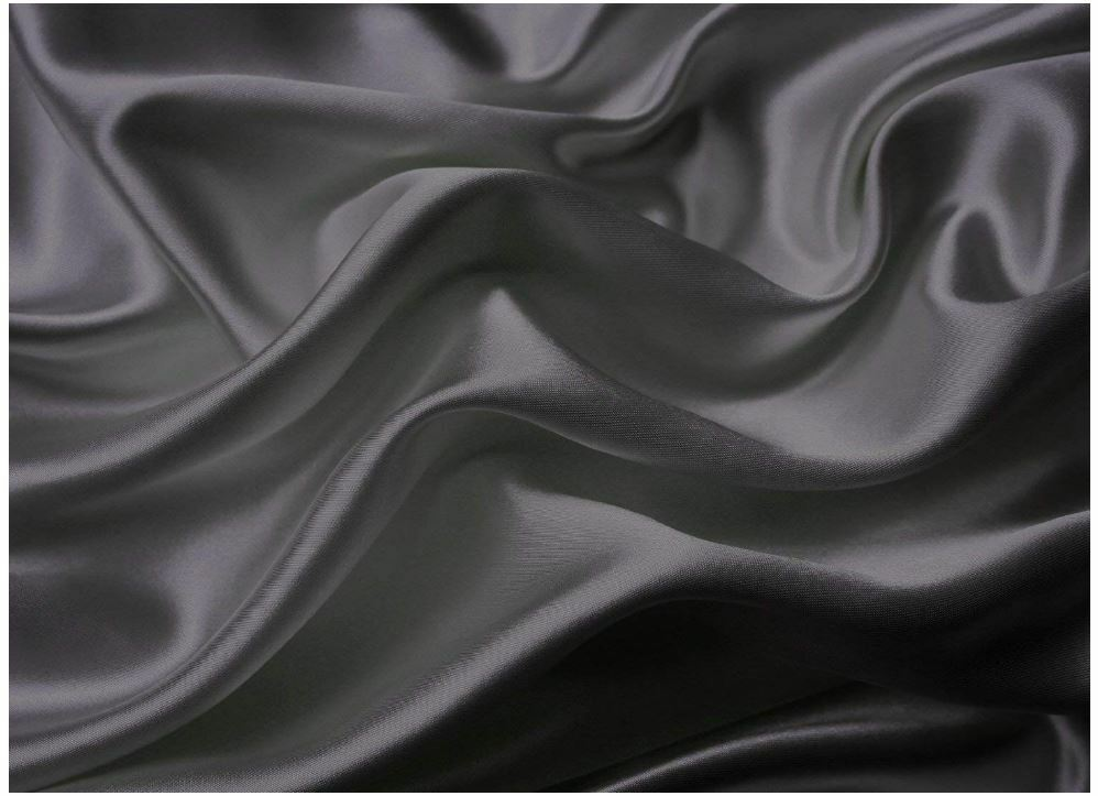 Queen Größe Bed Sheet Set Royal OpÃlence Charcoal Satin Silk Soft Bedding 4Pcs
