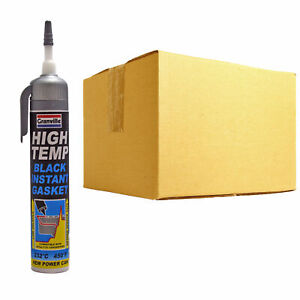 12-x-Granville-High-Temp-Black-Instant-Gasket-Power-Can-Silicone-Sealant-200ml