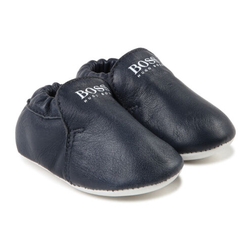 Hugo Boss Babyschuhe Krabbelschuhe Leder Booties Schuhe dunkelblau 18 19 20 21
