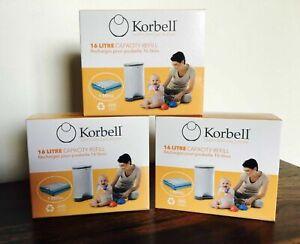 Korbell-diaper-nanny-standard-nappy-bin-refills-3-boxes-for-15L-amp-16L-bin