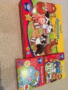 Orchard children's educational games. Dominoes, Shape Shark, Bingo