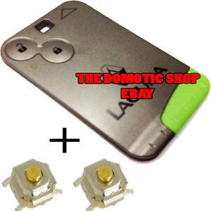Cle-renault-laguna-2-switches-keyless-card-plip-case-key-fob-remote