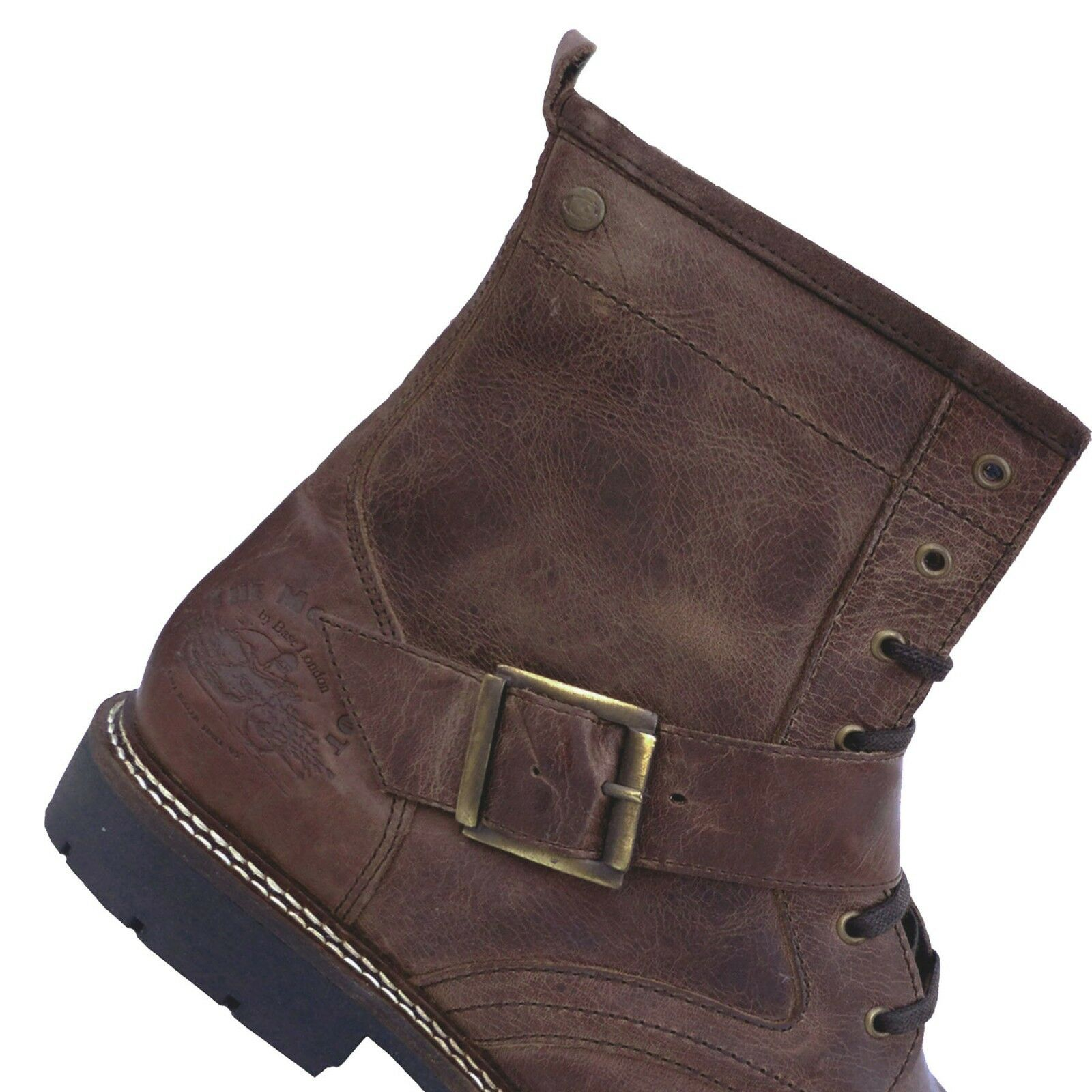 Mens Boots Base London Speed Brown UK 7