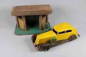 Ai428 Garage Station Service Bois Jouets Citroen Cij