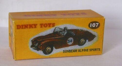Repro box Dinky nº 107 Sunbeam Alpine Sports