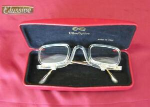 VINTAGE-ITALIAN-PERSCRIPTION-EYEGLASSES-w-MOVING-LENSES-ELUSSIVE-w-CASE