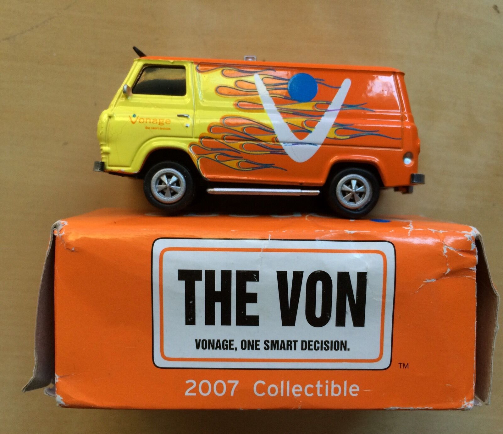 2007 Diecast Coleccionables Vonage el von Coche Camioneta en caja Rare Hot Wheels Matchbox