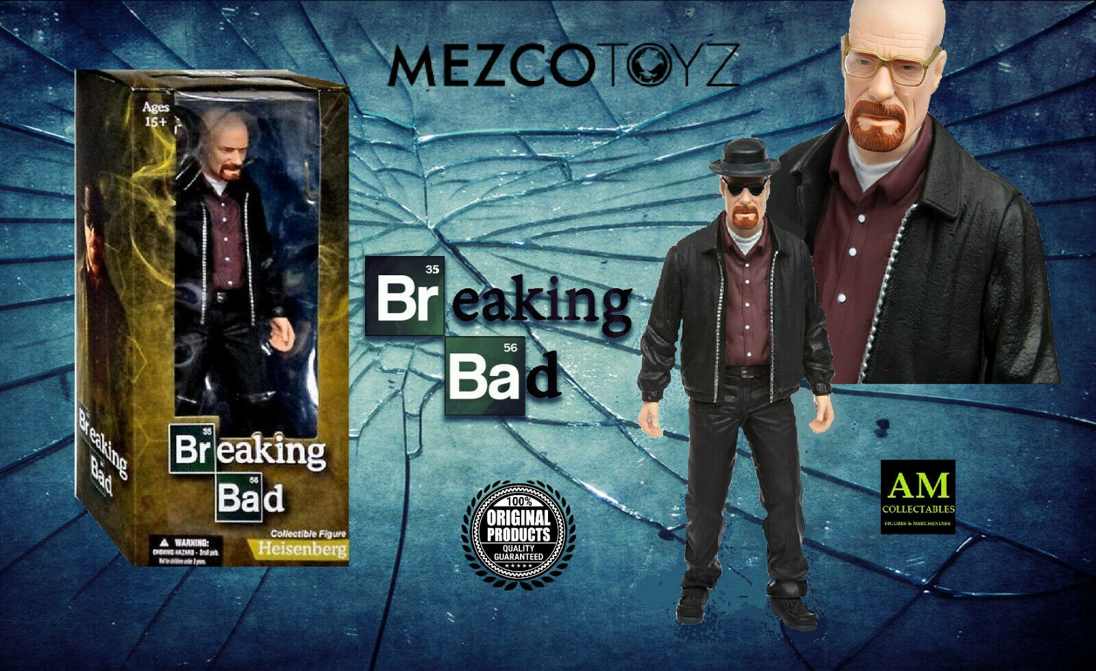Mezco Extremetoy - Breaking Bad - Heisenberg - 12   Collection Figurine - Neuf