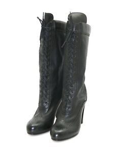LUXUS-BELSTAFF-STIEFEL-NEW-AGNES-HIGH-LACED-HIGH-ANTIQUE-BLACK-NEU-41-41-5-UK-8