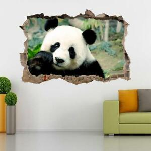 Image Is Loading Panda Bear Smashed Wall Sticker Decal Home