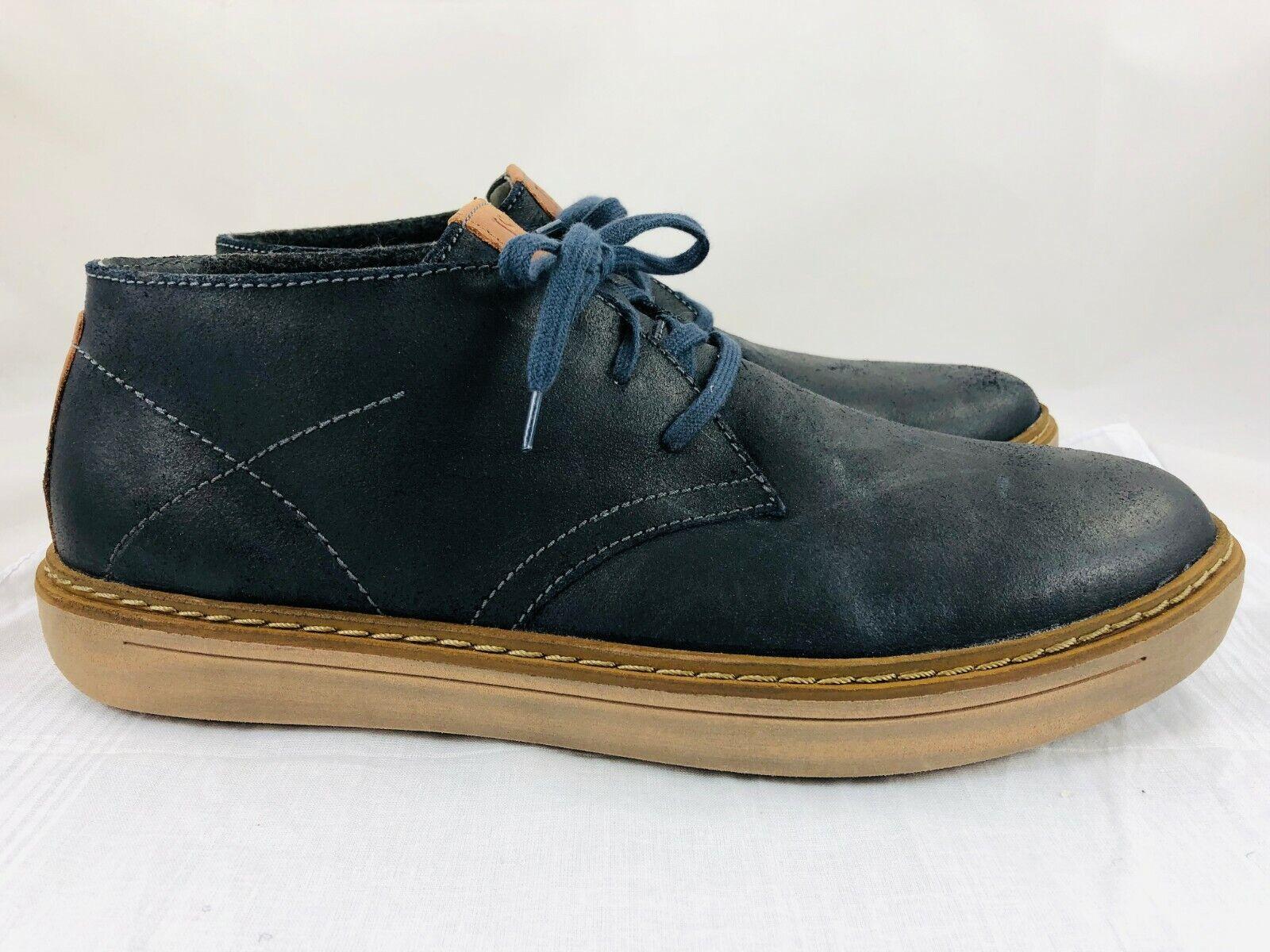 Josef Seibel Quentin 09 Men's 10-10.5 Navy bluee Leather Oxford Chukka Boot