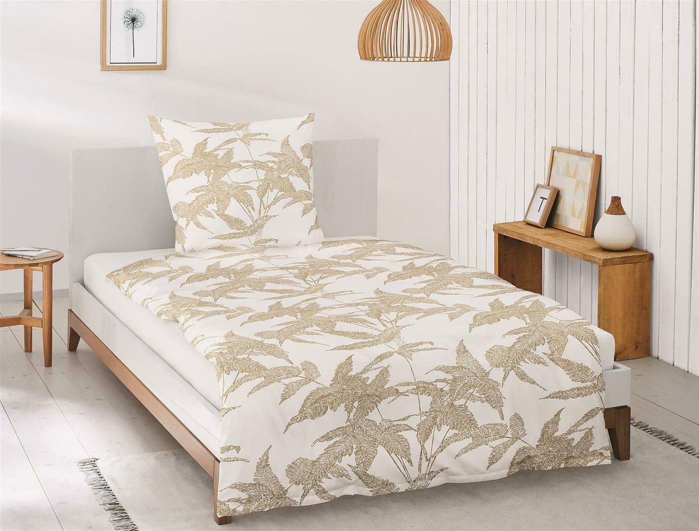 Irisette Mako Satin Bettwäsche 2 teilig Bettbezug 135 x 200 cm Eos 8009-40 Gold | Modisch
