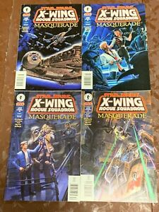 X-Wing Rogue Squadron Masquerade  complete 1-4 DARK HORSE Star Wars Comic Lot