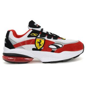 PUMA Men's Scuderia Ferrari Cell Venom Shoes White/Rosso Corsa 37033801 NEW!