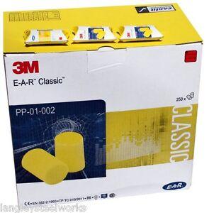 100 x 3M EAR Classic Foam Ear Plugs (FREE UK P&P) 50 Pairs