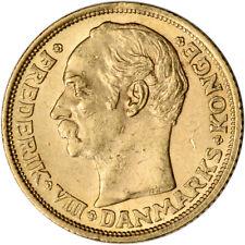 Denmark Gold 10 Kroner .1296 oz - Frederik VIII - XF/AU - Random Date