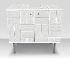 Badunterschrank Weißes dekoratives Muster Designschrank Bad Unterschränke