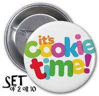 Girl Scout Cookies Set Of Pinback Buttons It's Cookie Time Pins Scouts Badges