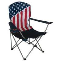 American Flag Usa Patriotic Folding Outdoor Camping Chair Bag Rugged 600d Canvas