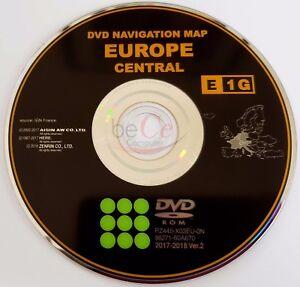 Toyota-Lexus-ORIGINAL-Navigation-DVD-E1G-2018-Central-Zentral-Europa-Update-Map
