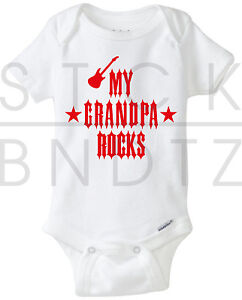 My Grandpa Rocks Acdc The Beatles Baby T Shirt Funny Cute Shower