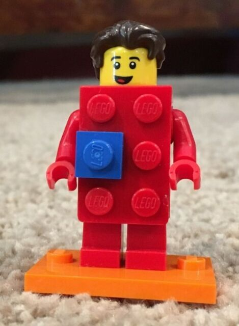 Lego Red Brick Suit Guy Costume Minifigure Series 18 Party