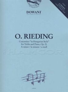 Contemplatif Oskar Rieding Violin Concertino Op 21 A Mineur Partition Livre Avec Cd-afficher Le Titre D'origine