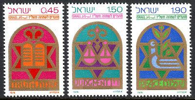 "1976 "" Truth "" Liefern Israel 606-608 Postfrisch Festivals "" Judgment "" "" Peace """