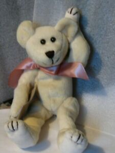 Boyds-Bears-plush-vintage-9-034-ivory-jointed-bear-Investment-collectables-PRISTINE