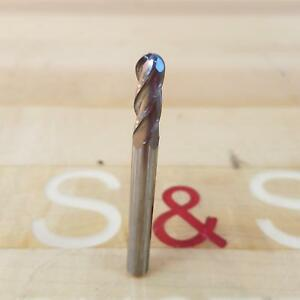 "2-1//2/"" OAL. 1//4/"" Shank 1//4/"" Diameter 4 Flute Single Ended End Mill Ball End"